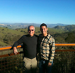 Guy with his son, Albert, celebrating his 70th birthday on a wine tasting excursion in San Benito County, CA in Jan 2013