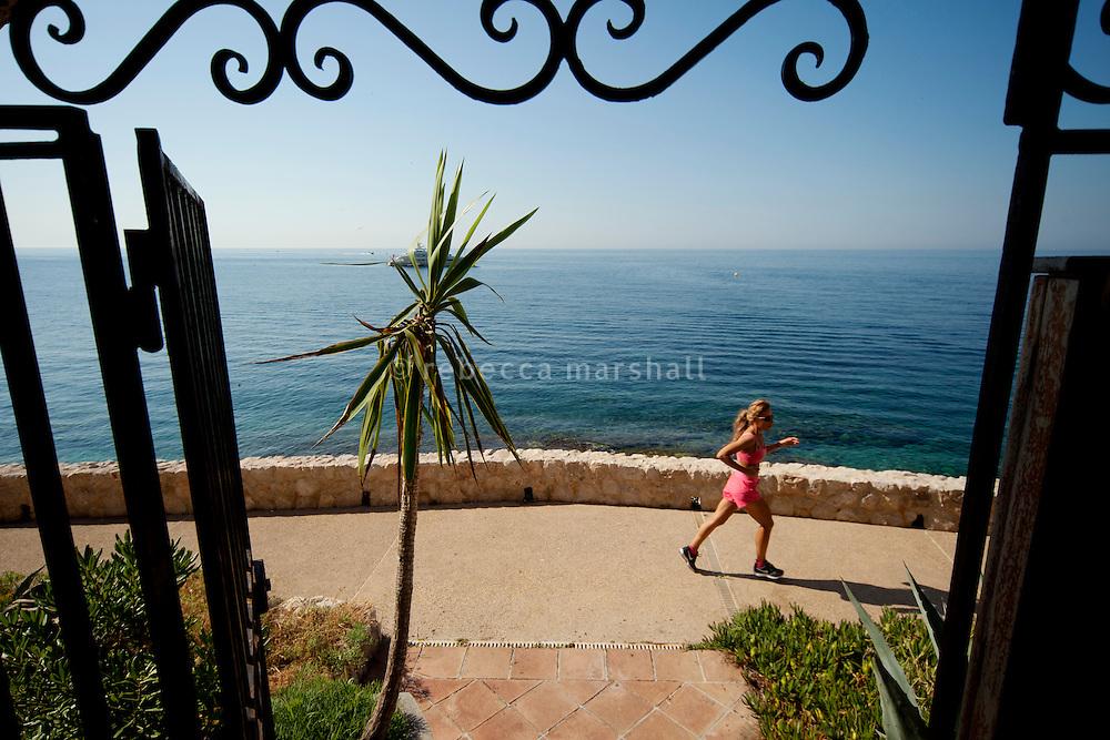 Coastal footpath, Cap d'Ail, France, 6 July 2013