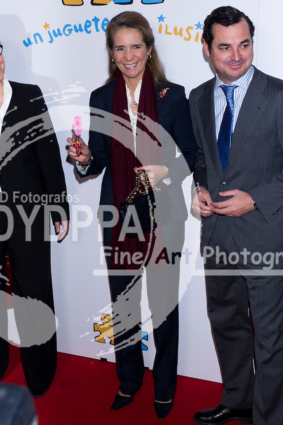 08.11.2012. RTVE (Spanish Radio Television). Madrid. Spain. Princess Elena of Spain attended the presentation of the XIII edition of the solidarity campaign 'A Toy, An Illusion'. In the picture: Princess Elena of Spain. (C) Ivan L. Naughty / DyD Fotografos