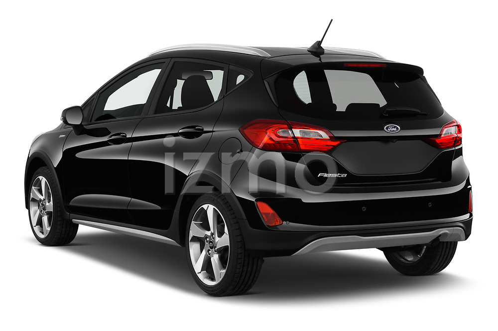 Car pictures of rear three quarter view of a 2019 Ford Fiesta  Active-3 5 Door Hatchback angular rear
