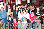 4186-4190.---------.Christening.-----------.Tara Hayden and David Gleeson(farmers Bridge Tralee)celebrated the christening of their precious new baby Sophie at the church of the Immaculate Conception at O Donnells bar/Resaaurant last Sunday surrounded by family and friends.   Copyright Kerry's Eye 2008