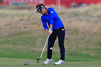 Eri Okayama (JPN) on the 2nd fairway during Round 2 of the Ricoh Women's British Open at Royal Lytham &amp; St. Annes on Friday 3rd August 2018.<br /> Picture:  Thos Caffrey / Golffile<br /> <br /> All photo usage must carry mandatory copyright credit (&copy; Golffile | Thos Caffrey)