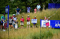 Mi Hyang Lee (KOR) watches her tee shot on 15 during Saturday's round 3 of the 2017 KPMG Women's PGA Championship, at Olympia Fields Country Club, Olympia Fields, Illinois. 7/1/2017.<br /> Picture: Golffile | Ken Murray<br /> <br /> <br /> All photo usage must carry mandatory copyright credit (&copy; Golffile | Ken Murray)