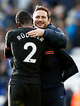 Chelsea manager Frank Lampard hugs Antonio Rudiger after the Premier League match against Leicester City at the King Power Stadium, Leicester. Picture date: 1st February 2020. Picture credit should read: Darren Staples/Sportimage