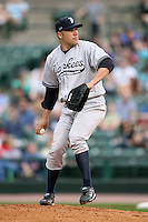 April 24, 2009:  Starting Pitcher Alfredo Aceves (91) of the Scranton Wilkes-Barre Yankees, International League Class-AAA affiliate of the New York Yankees, during a game at the Frontier Field in Rochester, NY.  Photo by:  Mike Janes/Four Seam Images