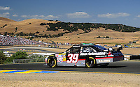 Jun. 21, 2009; Sonoma, CA, USA; NASCAR Sprint Cup Series driver Ryan Newman during the SaveMart 350 at Infineon Raceway. Mandatory Credit: Mark J. Rebilas-