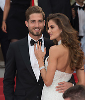 Izabel Goulart &amp; Kevin Trapp at the premiere for &quot;The Killing of a Sacred Deer&quot; at the 70th Festival de Cannes, Cannes, France. 22 May 2017<br /> Picture: Paul Smith/Featureflash/SilverHub 0208 004 5359 sales@silverhubmedia.com