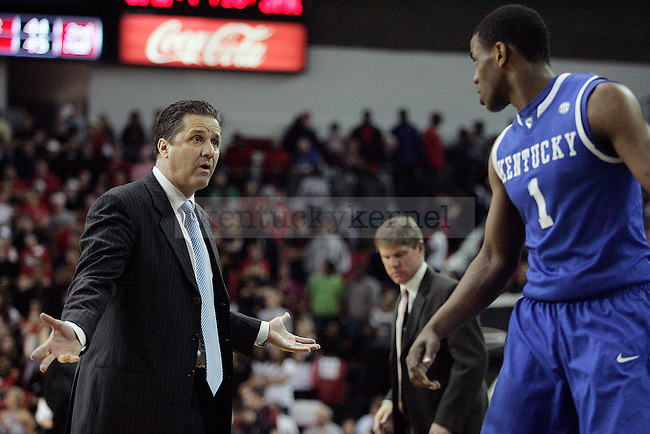 UK men's basketball head coach yells at sophomore guard Darius Miller in the second half of UK's 80-68 win over Georgia at Stegeman Coliseum  in Athens, GA on Wednesday, March 3, 2010. Photo by Britney McIntosh | Staff
