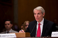 United States Senator Rob Portman (Republican of Ohio),  prior to introducing Kirstjen Nielsen during Nielsen's confirmation hearing to be US Secretary of Homeland Security before the US Senate Homeland Security and Government Affairs Committee on Capitol Hill in Washington, D.C. on November 8th, 2017. <br /> Credit: Alex Edelman / CNP /MediaPunch