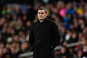 2nd February 2019, Camp Nou, Barcelona, Spain; La Liga football, Barcelona versus Valencia; Ernesto Valverde of FC Barcelona focused on the match