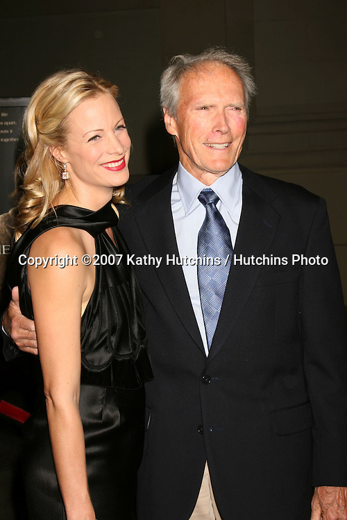 """Alison Eastwood, Clint Eastwood.""""Rails & Ties"""" Premiere.Stephen J. Ross Theater.Warner Brothers Lot.Burbank,  CA.October 23, 2007.©2007 Kathy Hutchins / Hutchins Photo...               ."""