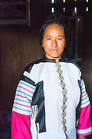 Thailand, Mae Hong Son. Woman from Lahu tribe in northern Thailand.