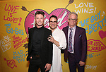 Spencer Liff, Michael Mayer and James Magruder attends the Opening Night Performance After Party for  'Head Over Heels' at Gustavino's  on July 26, 2018 in New York City.