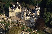 Europe/France/Centre/37/Indre-et-Loire/Env de Chinon/Rigny-Ussé : Le château d'Ussé (XV° au XVIII°)- Vue aérienne