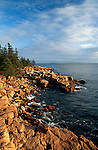 View of the shore near Ship Harbor, Acadia National Park, Maine, USA