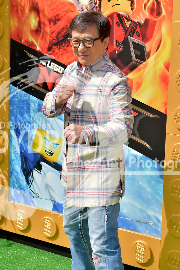 Jackie Chan bei der Premiere des Kinifilme 'The LEGO Ninjago Movie' im Regency Village Theatre. Westwood, 16.09.2017