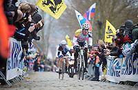 Ronde van Vlaanderen 2013..André Greipel (DEU) riding very strong up the Oude Kwaremont