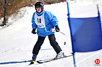 NEW HARTFORD, CT- 28 February 2009 --022809JS07-Laura Mallin of Glastonbury makes her way down the hill during the giant slalom alpine event during the Special Olympics Connecticut's 2009 Winter Games at Ski Sundown in New Hartford on Saturday. Ski Sundown was just one of four venues throughout the state for the winter games this weekend. Compeition continues today (Sunday) starting at 9 a.m.<br /> Jim Shannon Republican-American