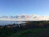 Blick auf das Asowsche Meer Mariupol