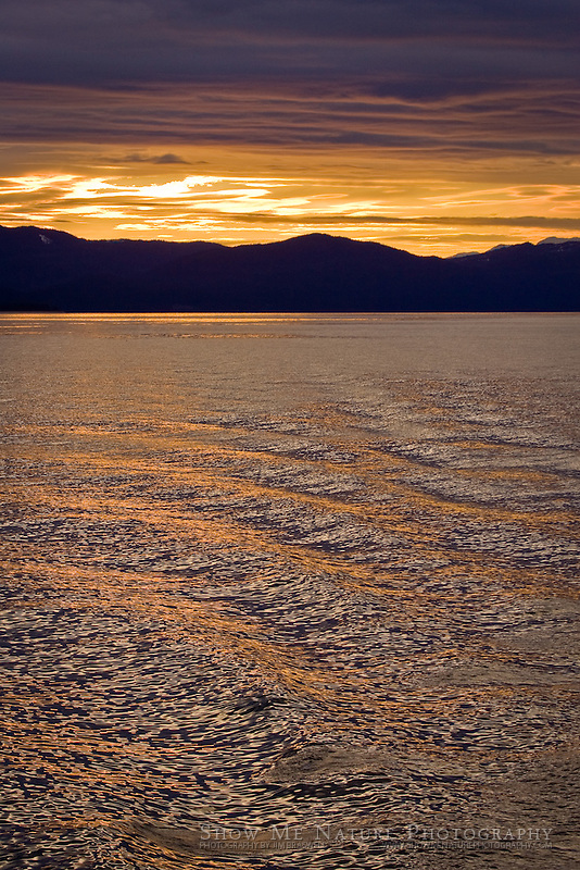 """Sunset from Ferry"", Alaska"