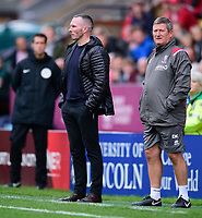 Lincoln City manager Michael Appleton, left and David Kerslake<br /> <br /> Photographer Andrew Vaughan/CameraSport<br /> <br /> The EFL Sky Bet League One - Lincoln City v Sunderland - Saturday 5th October 2019 - Sincil Bank - Lincoln<br /> <br /> World Copyright © 2019 CameraSport. All rights reserved. 43 Linden Ave. Countesthorpe. Leicester. England. LE8 5PG - Tel: +44 (0) 116 277 4147 - admin@camerasport.com - www.camerasport.com