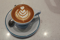 March 20, 2019. San Diego, CA. USA|  Bird Rock Coffee Roasters cappuccino | Photos by Jamie Scott Lytle. Copyright.