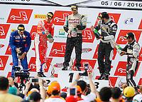 GOIANA, GO, 05.06.2016 - FORMULA-TRUCK - Pódio durante a quarta etapa da Fórmula Truck no Autódromo Internacional Ayrton Senna, na cidade de Goiânia (GO) neste domingo, 05. (Foto: Marcos de Souza/Brazil Photo Press)