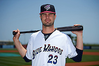 Pensacola Blue Wahoos outfielder Jesse Winker (23) poses for a photo before a double header against the Biloxi Shuckers on April 26, 2015 at Pensacola Bayfront Stadium in Pensacola, Florida.  (Mike Janes/Four Seam Images)