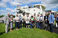 Hollie Doyle and connections of Billesdon Bess in the winners enclosure after winning The British Stallion Studs EBF Margadale Fillies Handicap,rduring Afternoon Racing at Salisbury Racecourse on 13th June 2017