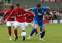 Jack Connors of Ebbsfleet United and Louie Theophanous of Chelmsford City during Ebbsfleet United vs Chelmsford City, Vanarama National League South Play-Off Final Football at The PHB Stadium on 13th May 2017