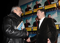 Montreal (Qc) CANADA - January 29, 2008 - <br /> Raymond Bouchard, Pierre Even<br /> at the Rendez Vous du Cinema Quebecois<br />  news conference.