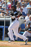 Toronto Blue Jays Edwin Encarnacion #10 during a Spring Training game vs the Detroit Tigers at Florida Auto Exchange Stadium in Dunedin, Florida;  February 26, 2011.  Detroit defeated Toronto 4-0.  Photo By Mike Janes/Four Seam Images