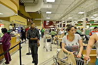 MIRAMAR, FL - OCTOBER 06: Consumer shopping at Publix supermarket in Miramar, Florida in preparation for the landfall of Hurricane Matthew on October 6, 2016 in Miramar, Florida. The hurricane is expected to make landfall sometime this evening or early in the morning as a possible category 4 storm.Credit: MPI10 / MediaPunch