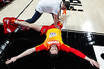 Spain´s Pau Gasol warms up before FIBA Basketball World Cup Spain 2014 match between Spain and France at `Palacio de los deportes´ stadium in Madrid, Spain. September 10, 2014. (Victor Blanco)