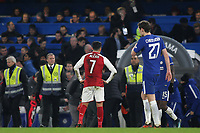 Arsenal's Alexis Sanchez reaction at the final whistle during Chelsea vs Arsenal, Caraboa Cup Football at Stamford Bridge on 10th January 2018
