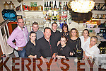 Host for the night were Diarmaid Ring, Niamh Guerian, Peter Sugrue, Armel White(Owner), James Canavan, Aoife O'Donnell, Sarah Browne, Caroline Rodriguez, Veronica Moloney and Diane Canavan pictured here last Saturday night where traders and business's from Church Street, Listowel  came together for a special Christmas party in Allos Restaurant, Listowel.