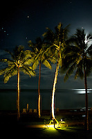 SETTING MOON IN THE PACIFIC, PALAU