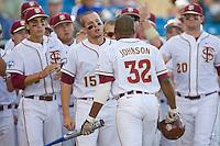 Florida State's Holt, Tyler 2224.jpg against TCU at the College World Series on June 23rd, 2010 at Rosenblatt Stadium in Omaha, Nebraska.  (Photo by Andrew Woolley / Four Seam Images)