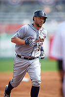 Detroit Tigers catcher Bryan Holaday (50) runs the bases after hitting a home run during a Spring Training game against the New York Yankees on March 2, 2016 at George M. Steinbrenner Field in Tampa, Florida.  New York defeated Detroit 10-9.  (Mike Janes/Four Seam Images)