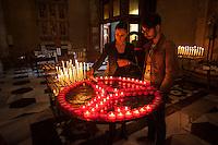 Como, duomo di Como, preghiera per la pace.Novembre 2015