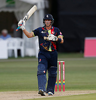 Joe Denly hits fifty for Kent during the Vitality Blast T20 game between Kent Spitfires and Sussex Sharks at the St Lawrence Ground, Canterbury, on Fri July 27, 2018