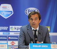 VOETBAL: LEEUWARDEN: 12-09-2015, SC Cambuur - PSV, uitslag 0-6, trainer/coach Phillip Cocu (PSV), ©foto Martin de Jong