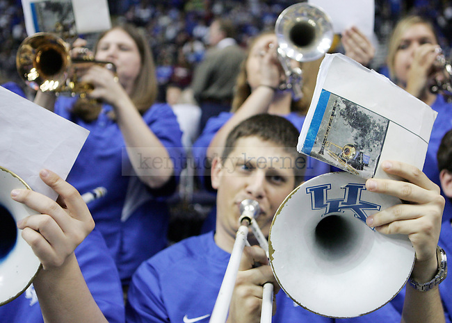 The UK pep band plays in the second half of UK's win 75-74 over Mississippi State  Bridgestone Arena in the SEC Finals on Sunday, March 14, 2010. Photo by Britney McIntosh | Staff