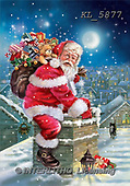 Interlitho, Simonetta, CHRISTMAS SANTA, SNOWMAN, paintings, santa, sack, chimney, KL5877,#X# Weihnachtsmänner, Papá Noel, Weihnachten, Navidad, illustrations, pinturas klassisch, clásico