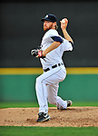 9 March 2012: Detroit Tigers pitcher Collin Balester on the mound during a Spring Training game against the Philadelphia Phillies at Joker Marchant Stadium in Lakeland, Florida. The Phillies defeated the Tigers 7-5 in Grapefruit League action. Mandatory Credit: Ed Wolfstein Photo