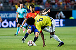 David Jimenez Silva of Spain competes for the ball with Carlos Sanchez of Colombia during the friendly match between Spain and Colombia at Nueva Condomina Stadium in Murcia, jun 07, 2017. Spain. (ALTERPHOTOS/Rodrigo Jimenez)