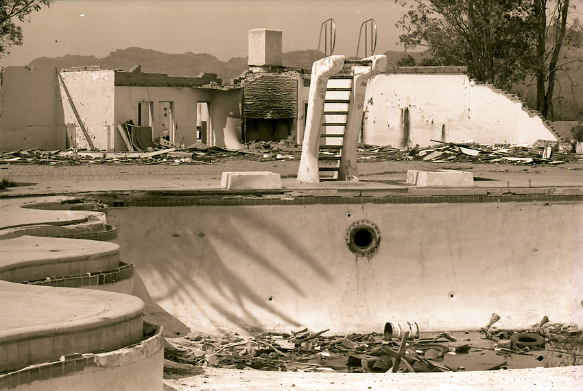 This is a swimming pool at the former El Rancho Diablo, west of Tucson, near Ryan Field. This is a July 28, 1976 file photo.