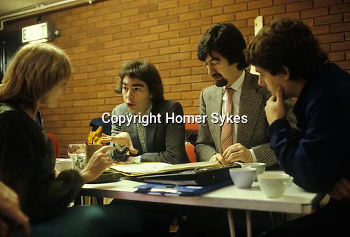 Gillian Lynne Andrew Lloyd Webber Trevor Nunn Cameron Mackintosh London England circa 1980. Working on the new musical Cats.
