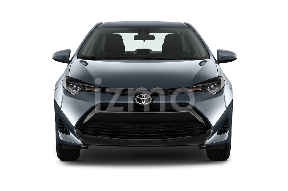 Car photography straight front view of a 2017 Toyota Corolla L 4 Door Sedan