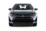 Car photography straight front view of a 2018 Toyota Corolla L 4 Door Sedan